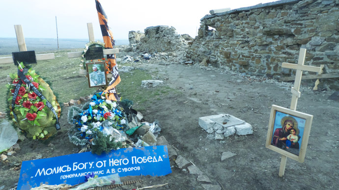 Burying the dead: a hero of the People's Republic of Donetsk in Saur-mogila. (Photo: Pepe Escobar)