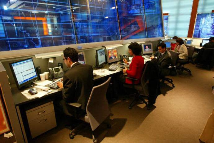 Newsroom at the Middle East Broadcasting Networks, Inc. (Image from wikipedia.org)