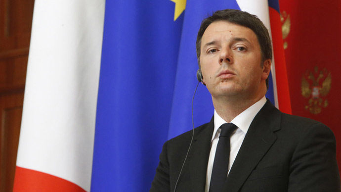 Italian Prime Minister Matteo Renzi (Reuters/Sergei Karpukhin)