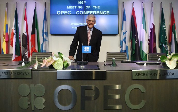 OPEC Secretary-General Abdullah al-Badri arrives for a news conference after a meeting of OPEC oil ministers at OPEC's headquarters in Vienna November 27, 2014. (Reuters/Heinz-Peter Bader)