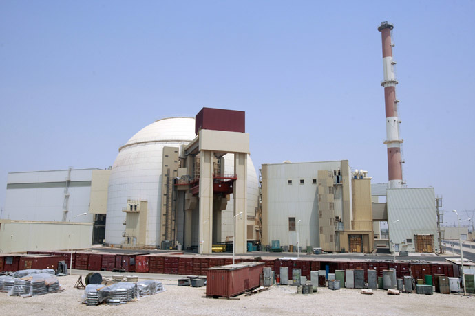 A general view of the Bushehr main nuclear reactor. (Reuters/Raheb Homavandi)