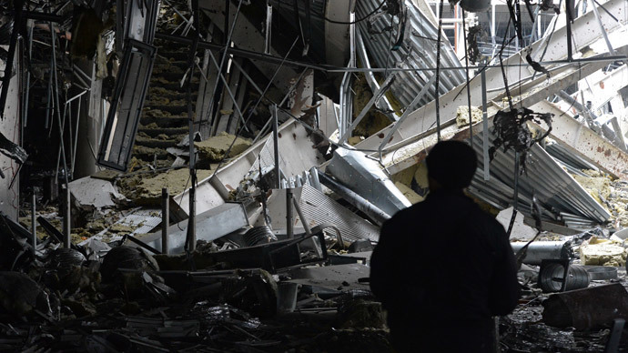 The remains of the Donetsk airport (RIA Novosti / Mikhail Voskresenskiy)