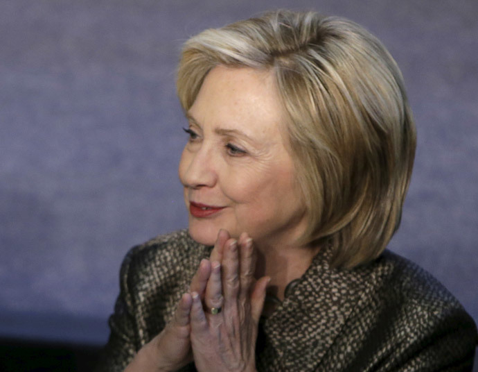 U.S. former Secretary of State, and now a Democratic presidential candidate, Hillary Rodham Clinton (Reuters / Gary Cameron)