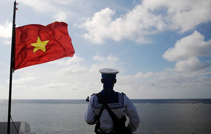A Vietnamese naval soldier (Reuters / Quang Le)