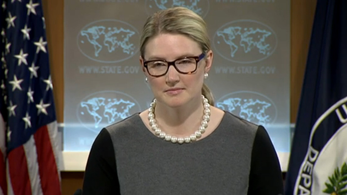 Marie Harf (Screenshot from video.state.gov)