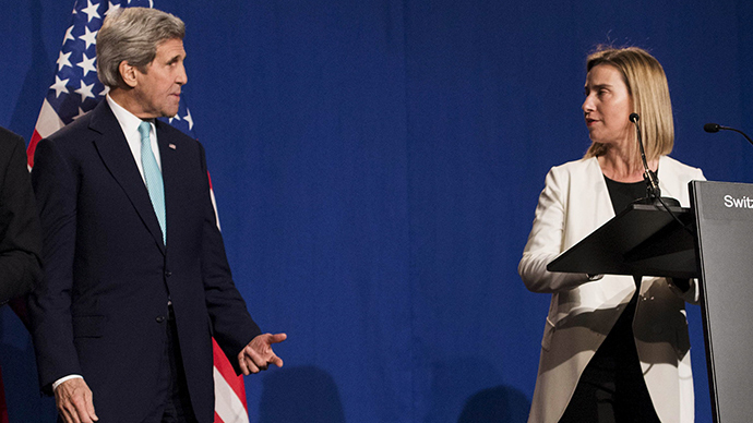 Kerry 'issuing a warning' to EU on Russia sanctions