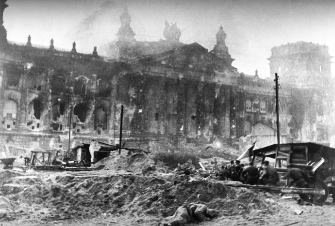 1941-1945; wartime photo; World War two; seizure of Berlin. (RIA Novosti)