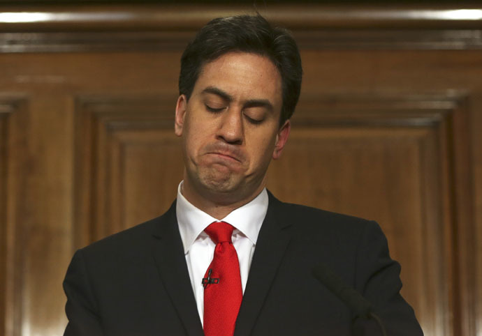 Britain's opposition Labour Party leader Ed Miliband (Reuters/Neil Hall)