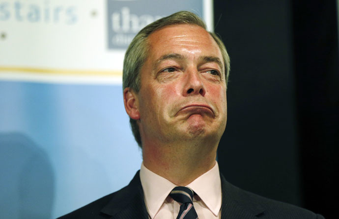 Nigel Farage, leader of the United Kingdom Independence Party (UKIP) (Reuters/Suzanne Plunkett)