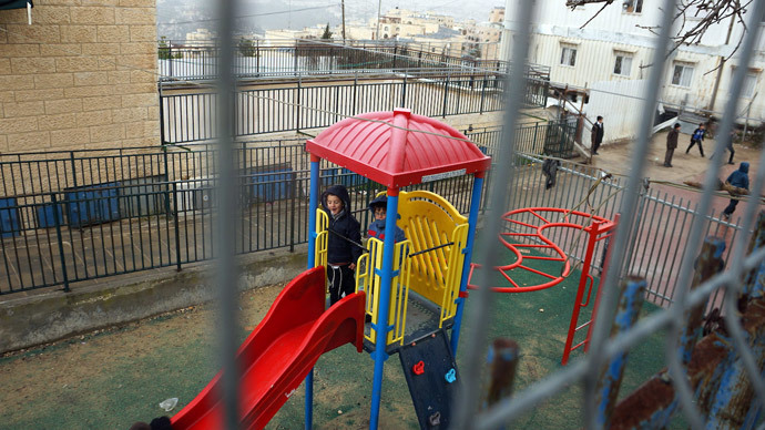 67 years ago Palestinian families lived where there is now a day care facility for kids, but Israeli kids won't learn the truth (Photo by Nadezhda Kevorkova)