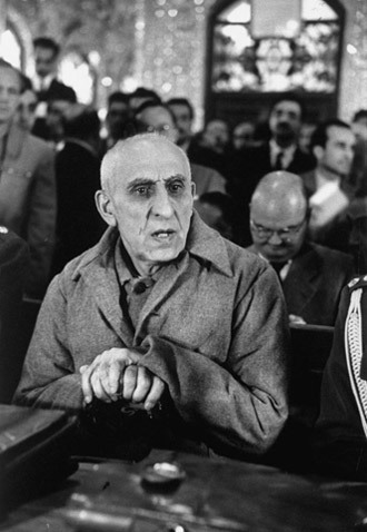 Mohammad Mosaddegh on trial, November 1953.(Photo from foreignaffairs.com)