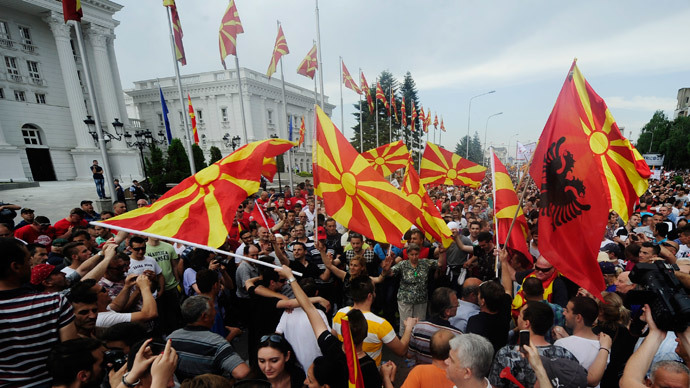 'Macedonia unrest - another episode of West-Russia geopolitical battle'