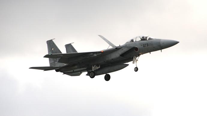 A Japanese fighter jet.(Photo by Andre Vltchek)