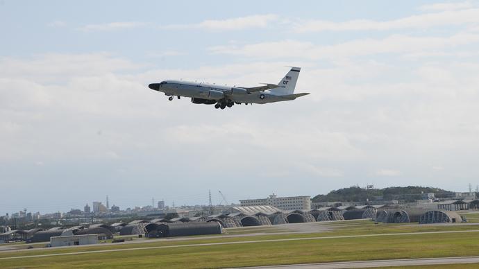 Mighty hangars and strange planes at Kadena Base.(Photo by Andre Vltchek)