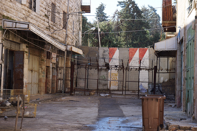 The Old City's streets are walled, meaning their buildings are occupied by settlers (Photo by Nadezhda Kevorkova)