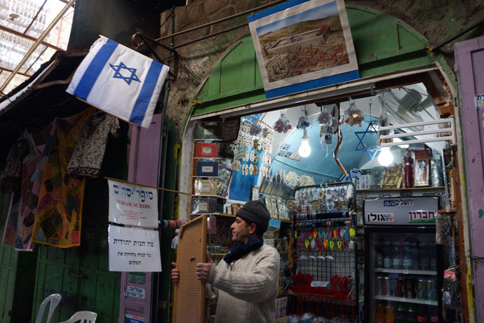 The owners of this shop bought it from Palestinians and sells Israel-related items for tourists (Photo by Nadezhda Kevorkova)