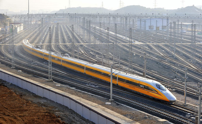 A CRH (China Railway High-speed) Harmony bullet inspection train (Reuters)