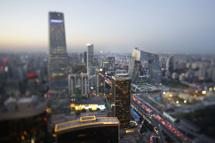 Buildings are pictured in Beijing's central business district (Reuters/Jason Lee)