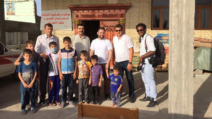 PIC With internally displaced people (IDPs), Shia Turkmen Muslims who fled IS in Tal Afar