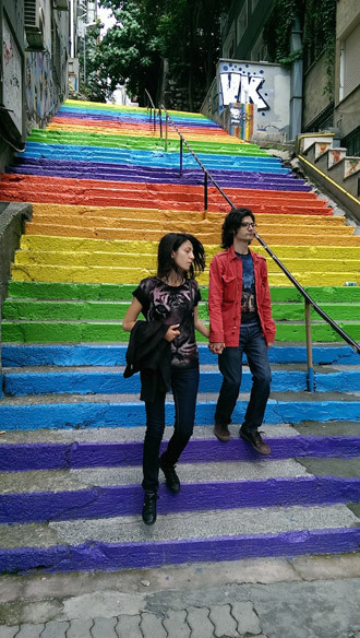 LGBT are now present in Turkey solely in the form of colored stairs. The ethnic minorities proved to be more important at the election than the sexual ones.