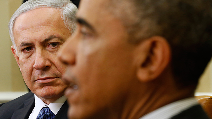 U.S. President Barack Obama (R) meets with Israel's Prime Minister Benjamin Netanyahu (Reuters / Kevin Lamarque)