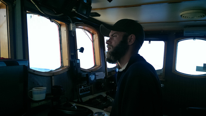 Joel Opperdoes, captain of the ship Marianne av Göteborg (Photo by Nadezhda Kevorkova)