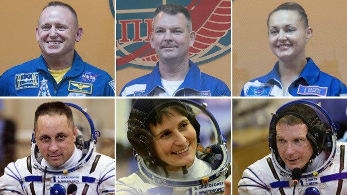 L'équipage actuel de la Station spatiale internationale.