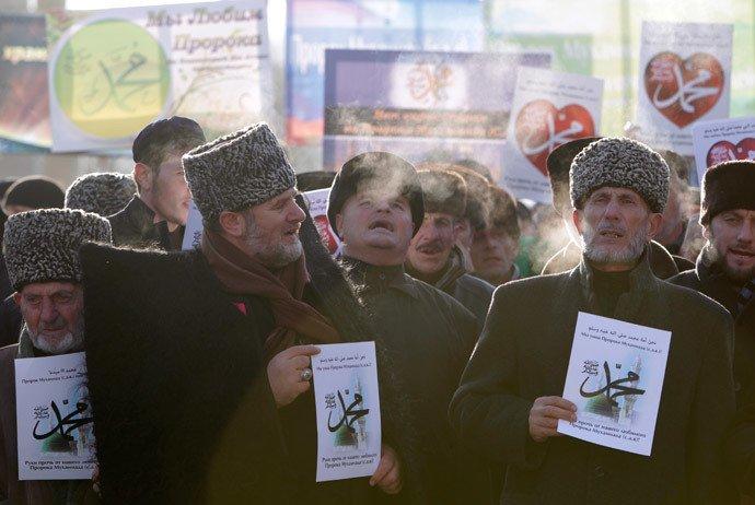 Charlie Hebdo : La Tchétchénie manifeste « Pour l'amour du prophète Mahomet »