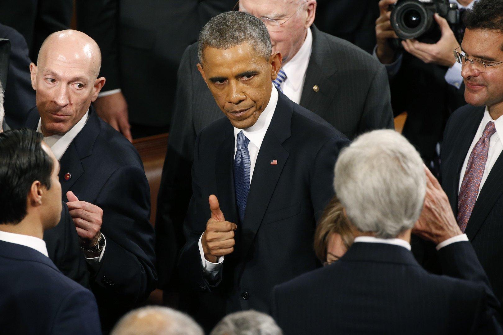 Le discours de Barak Obama sur l'état de l'Union le 20 janvier 2015. (REUTERS/Jonathan Ernst)