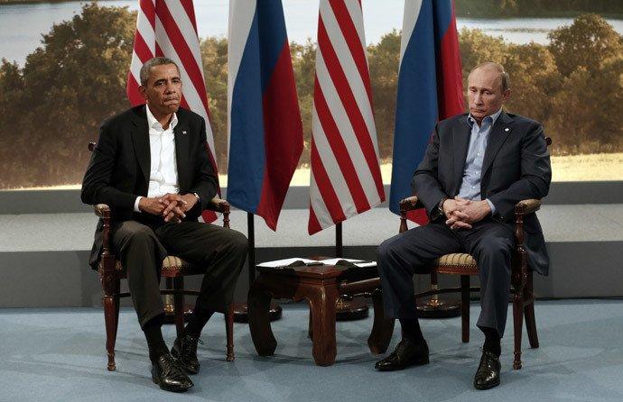 Le président russe Vladimir Poutine et son homologue américain Barack Obama. (REUTERS)