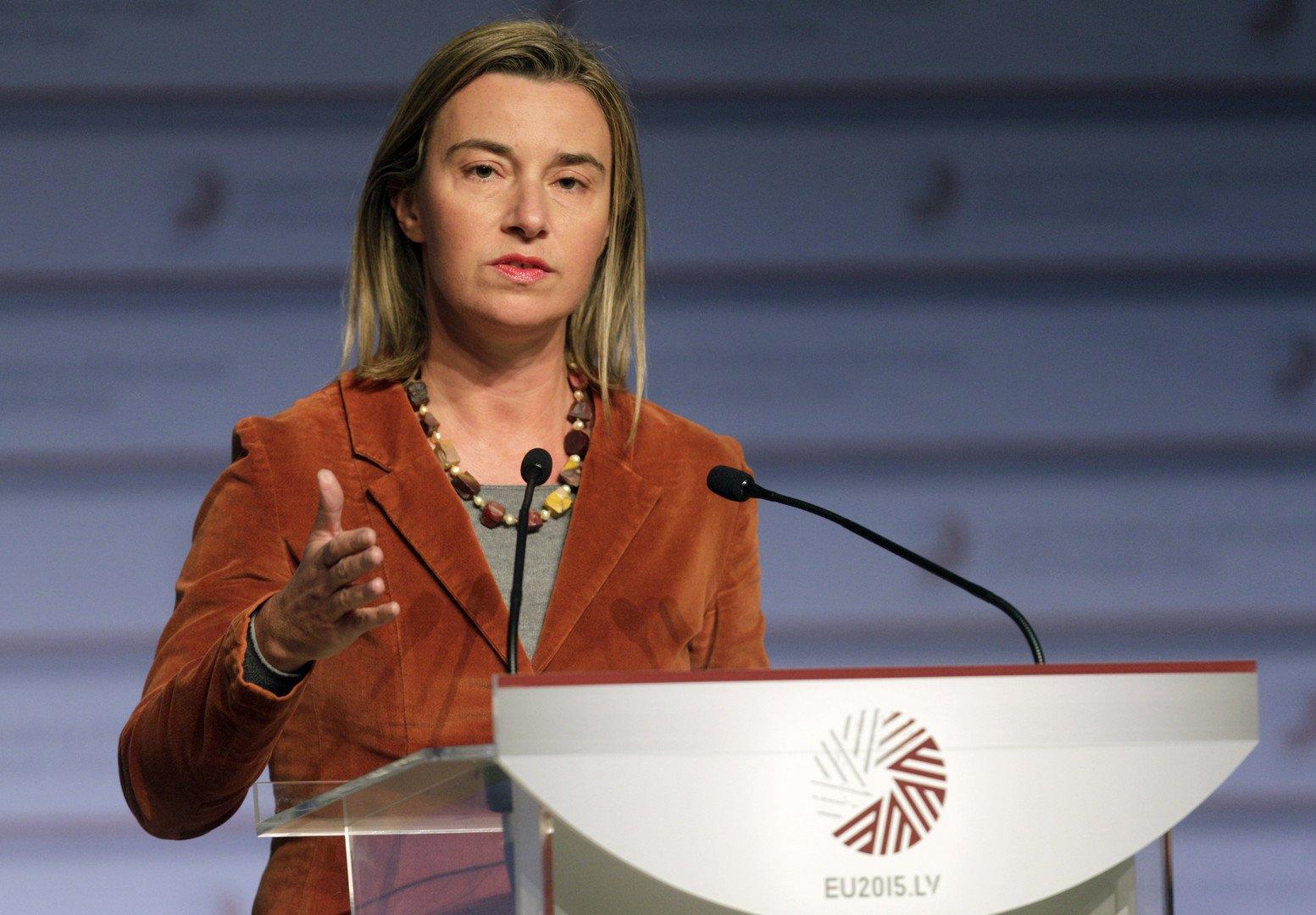 Haut Représentant de l'Union européenne pour les affaires étrangères Federica Mogherini. (REUTERS)
