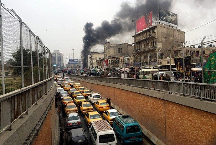 Un bombardement sur Bagdad le 30 janvier 2015.