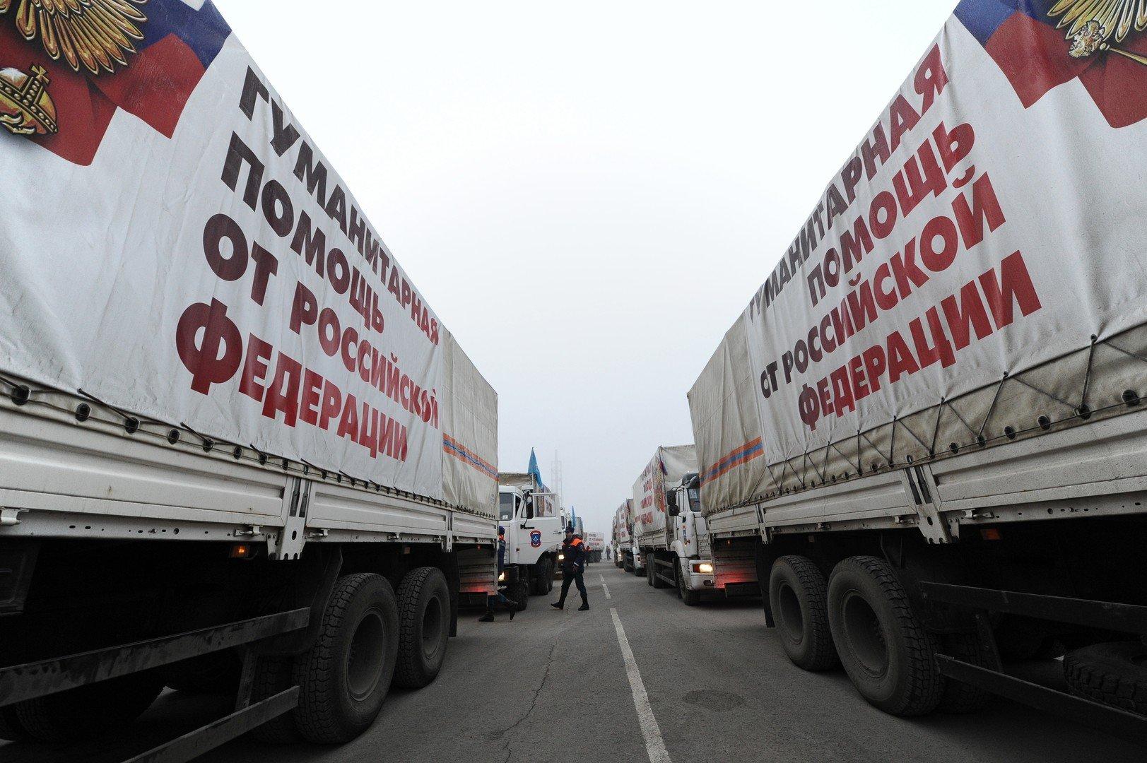 Le convoi d'aide humanitaire russe.