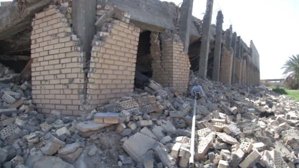 Le tombeau de Saddam Hussein partiellement détruit dans la bataille pour Tikrit en Irak