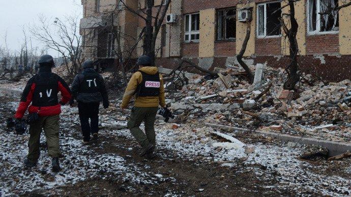 Les journalistes à Donetsk