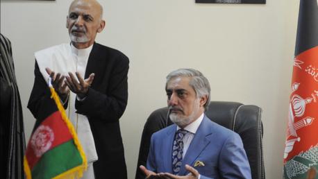 Le président afghan Ashraf Ghani et le chef de l'exécutif Abdullah Abdullah