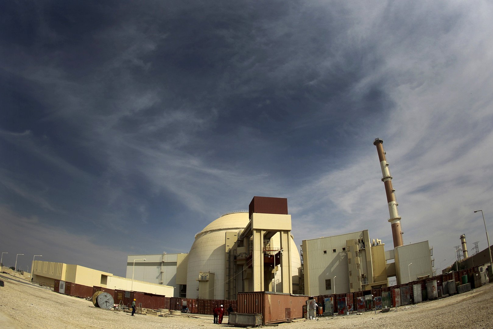 Une vue générale de la centrale nucléaire de Bouchehr