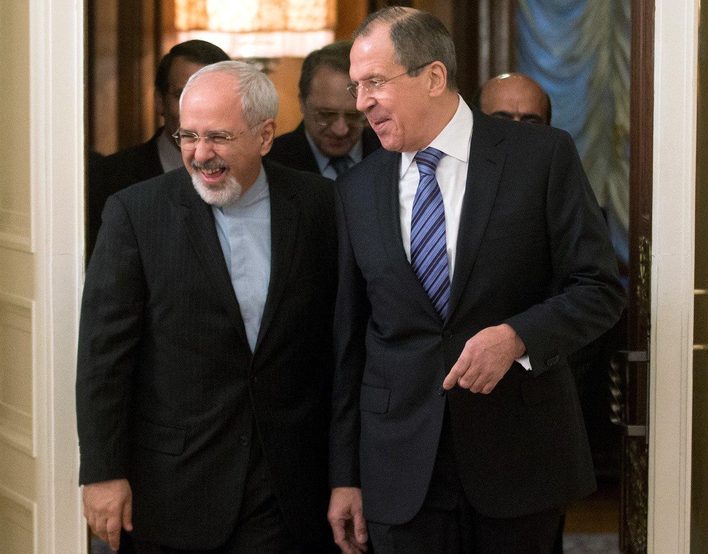 Mohammad Javad Zarif et Sergueï Lavrov