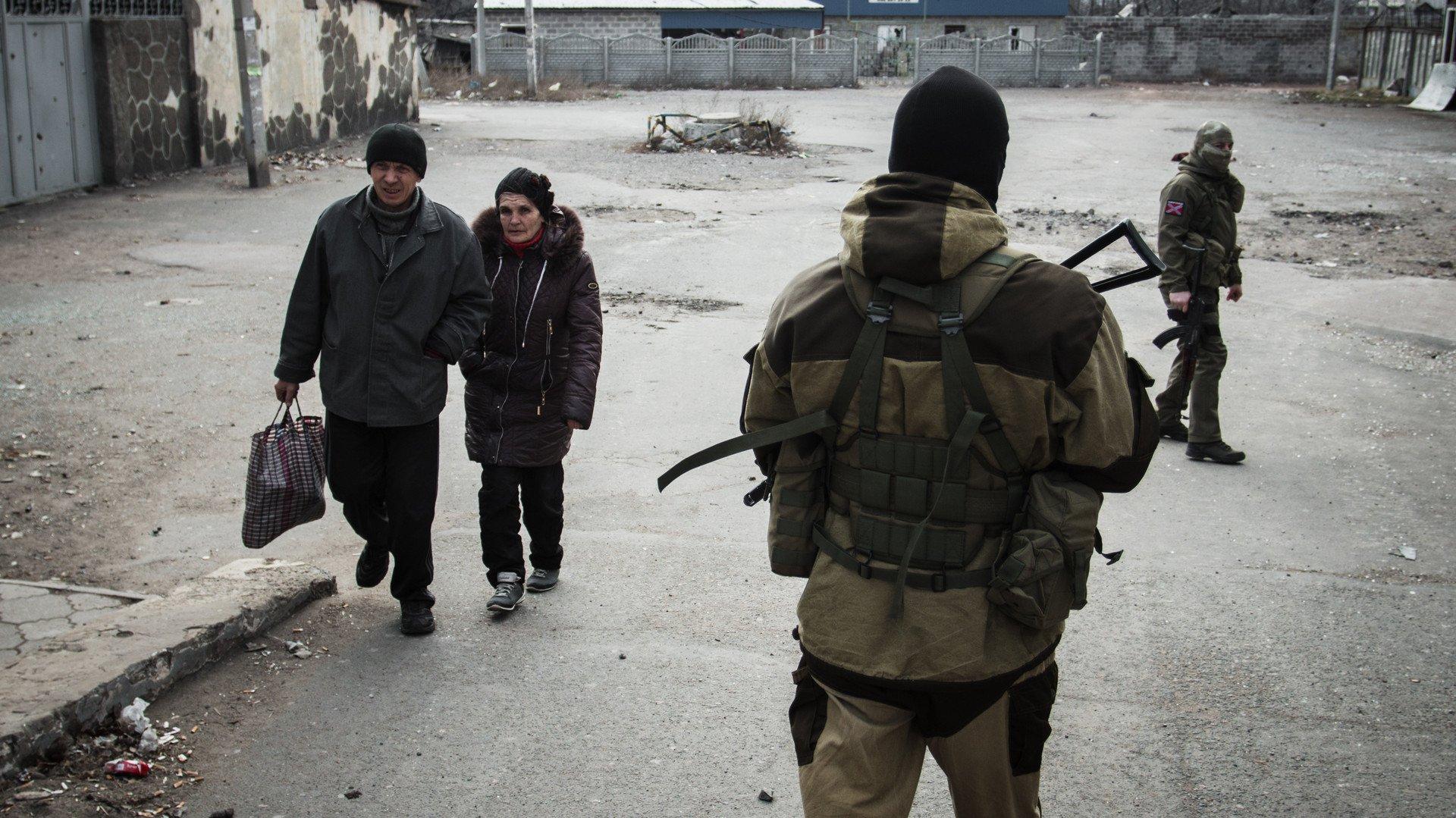 Les habitants du Donbass