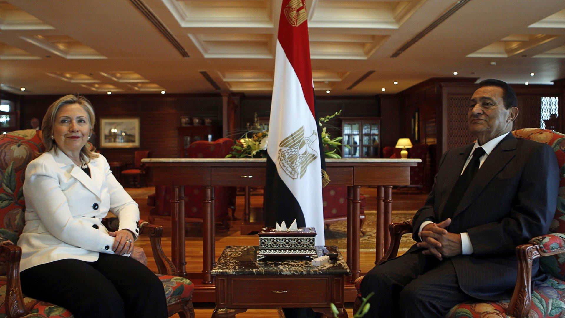Hillary Clinton et Hosni Moubarak