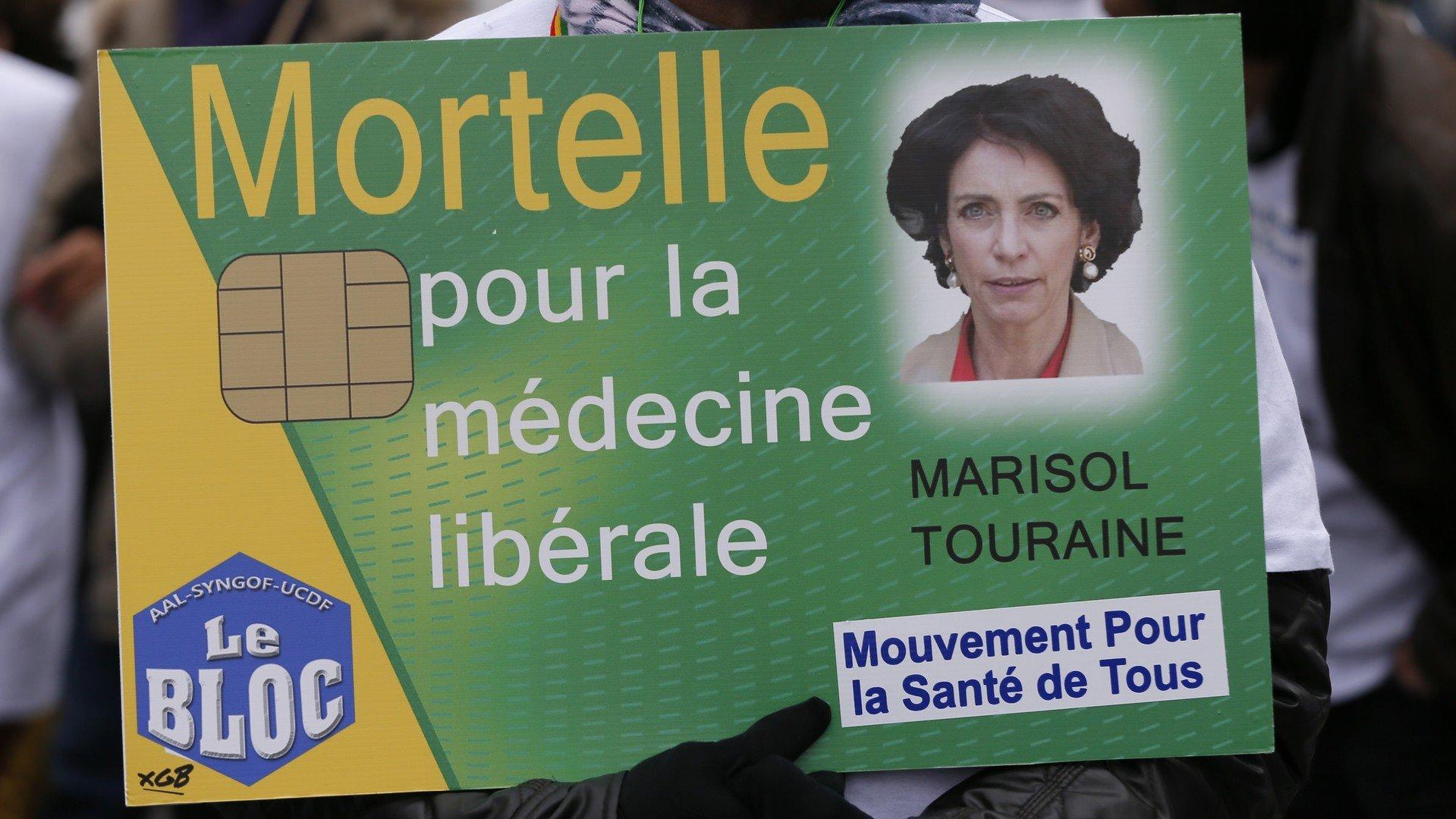 Manifestation contre la réforme de la santé