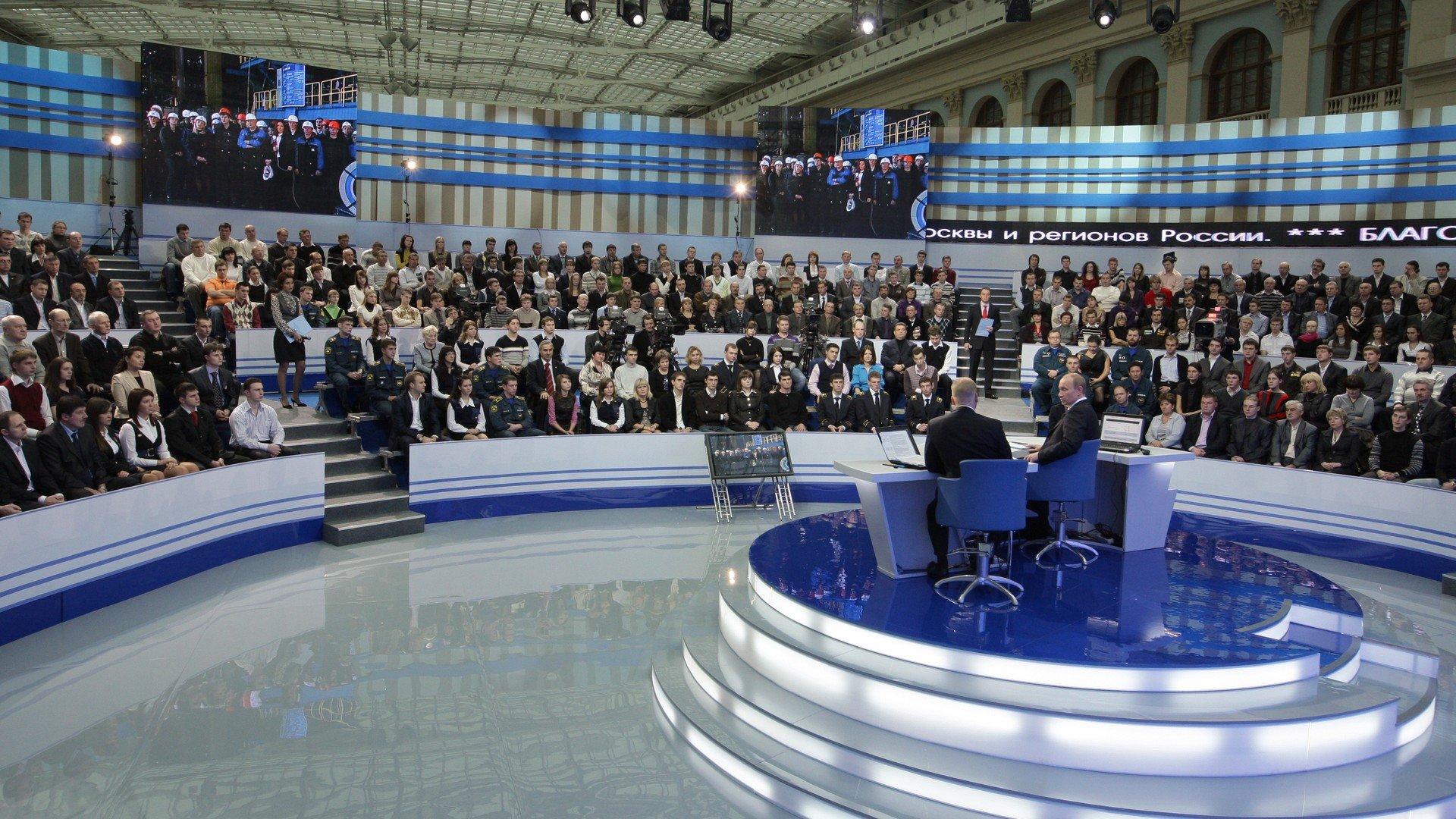 Vladimir Poutine au cours du marathon annuel de questions-réponses, 3 décembre 2009