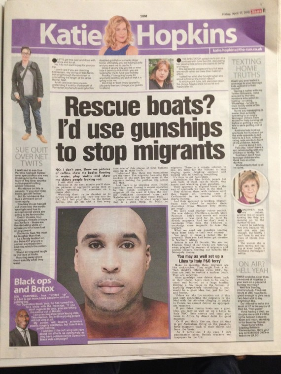 Le journal britannique le Sun.