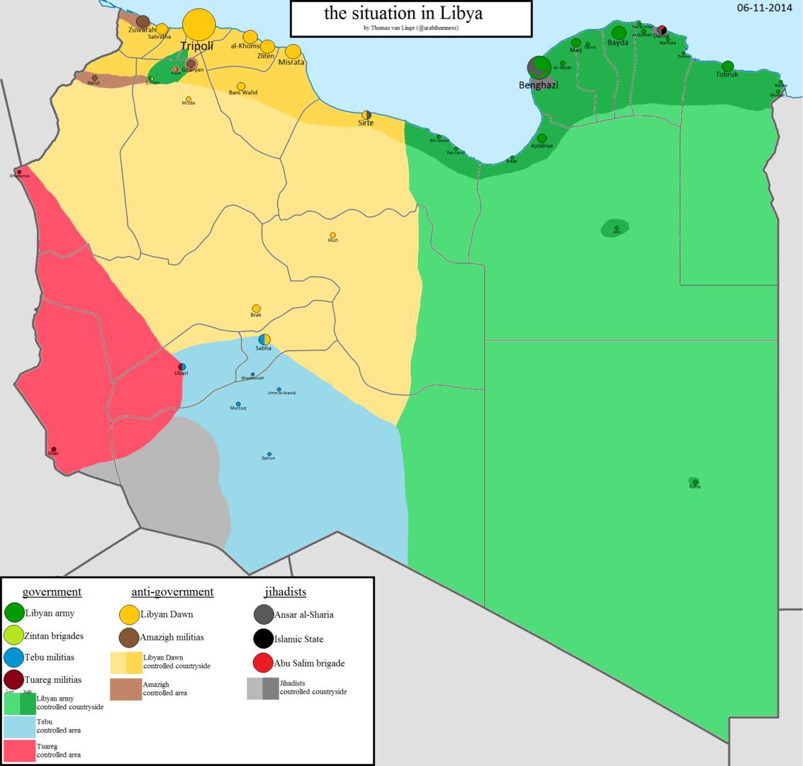 La situation géopolitique en Libie d'apres bloggeur Thomas van Linge @arabthomness
