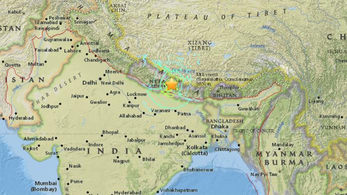 Plus de 2000 morts et plusieurs villes en ruines à la suite d'un tremblement de terre au Népal