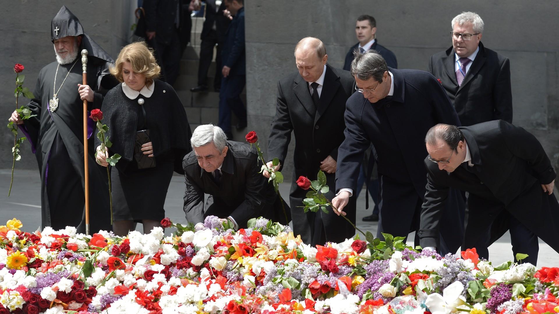 La cérémonie de commémoration