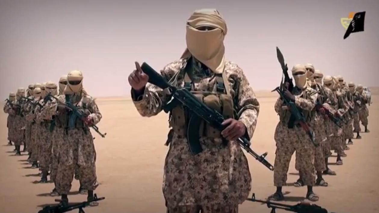Capture d'écran d'une vidéo de Daesh