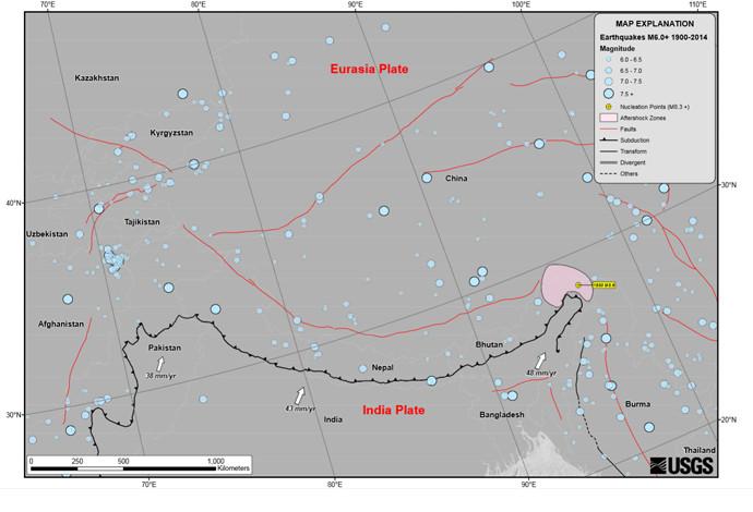 Tremblement de terre dévastateur au Népal  - 3600 personnes ont péri