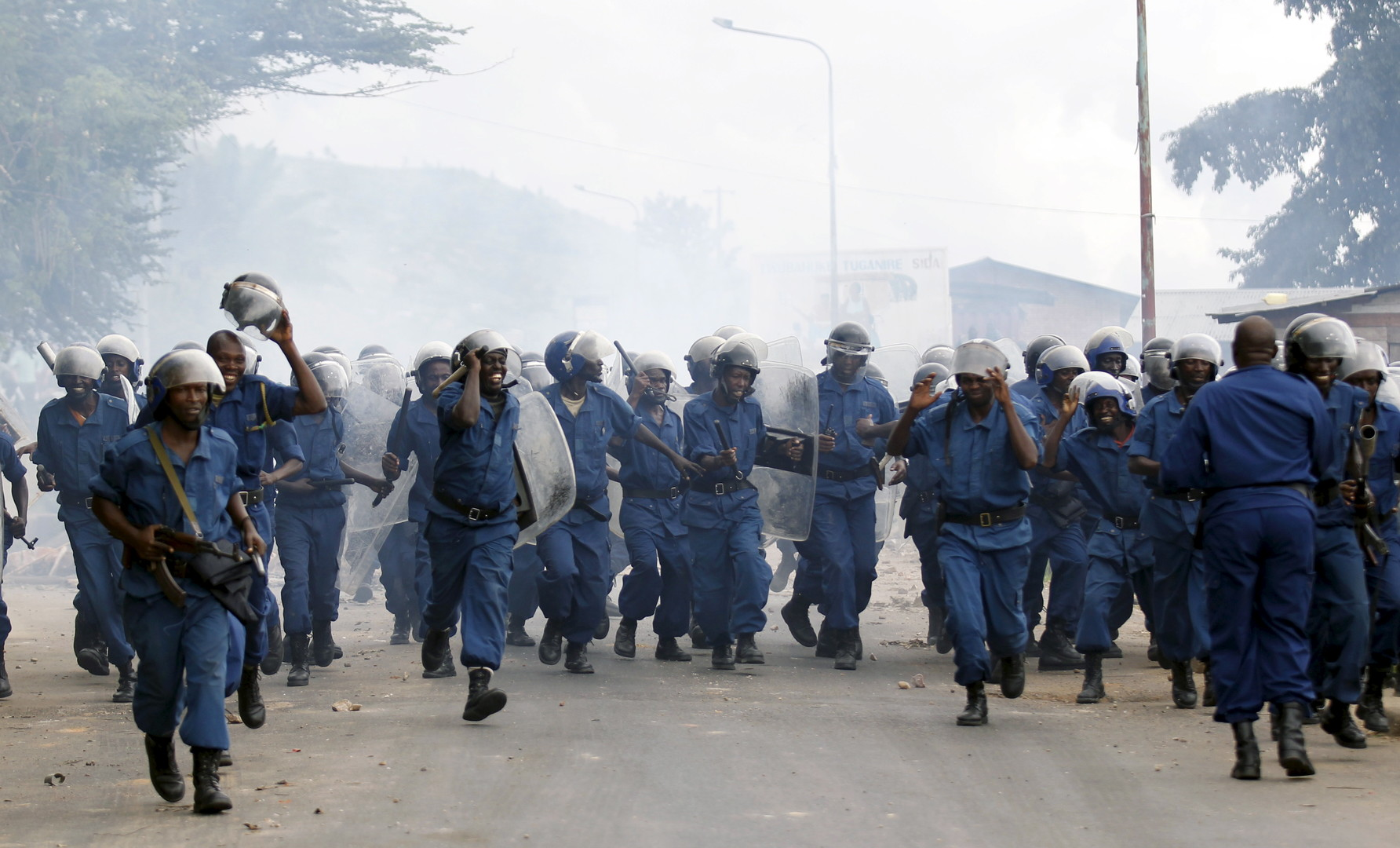 Une manifestation d'opposants au président Pierre Nkurunziza