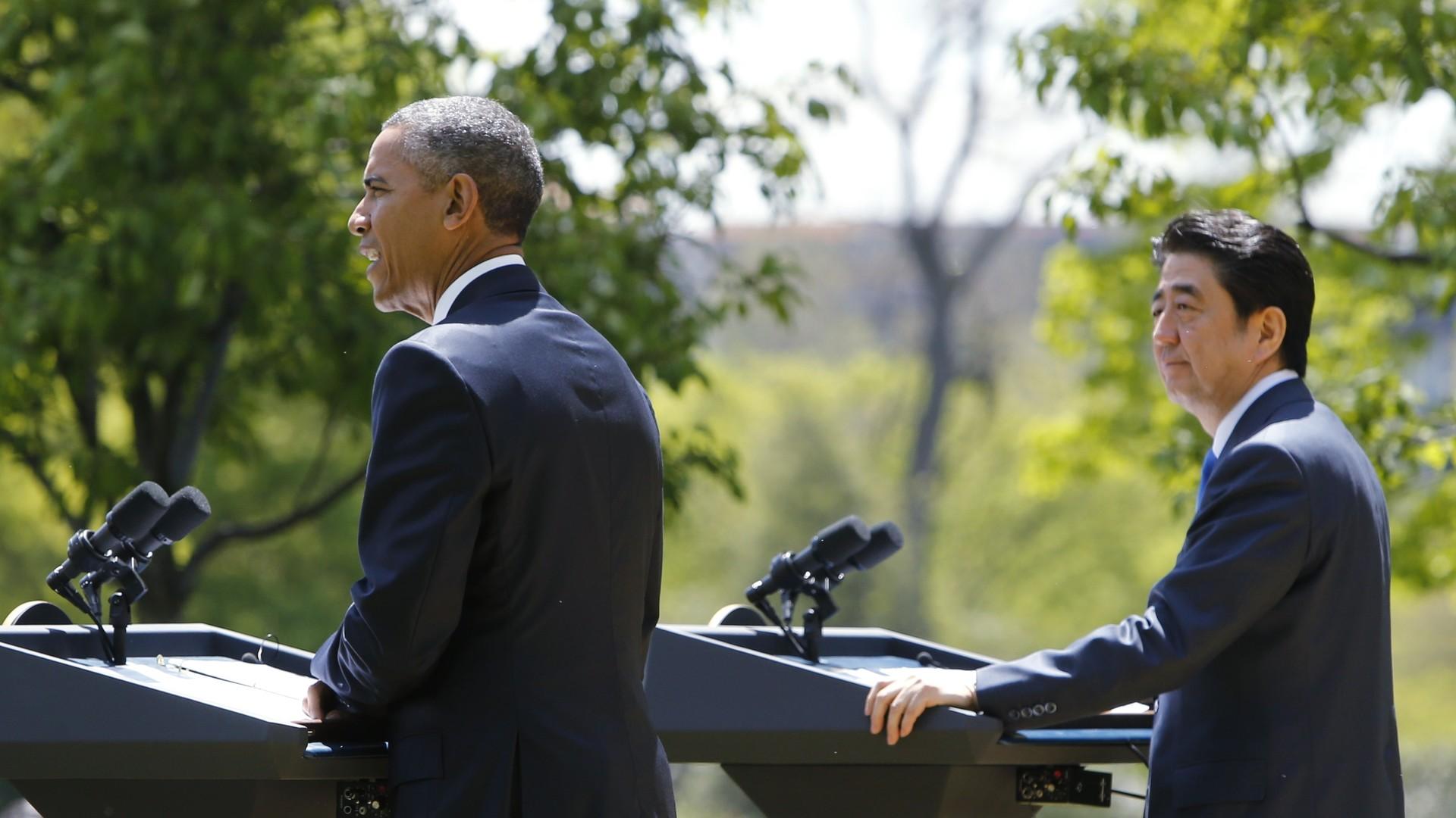 Barack Obama et Shinzo Abe